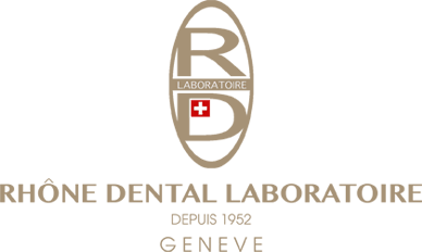 Logo of the Rhône Dental Clinic laboratory in Geneva
